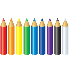 Color pencils vector