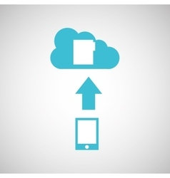 Device transfer cloud file folder vector