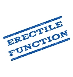 Erectile function watermark stamp vector