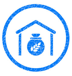 Grain storage rounded grainy icon vector