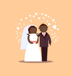 African american loving couple vector