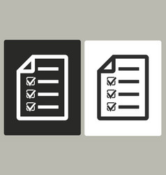 Checklist - icon vector