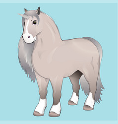 Unicorn with silver mane vector