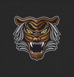tiger anger of a tiger head vector image