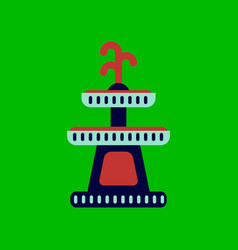 Flat icon stylish background halloween fountain vector