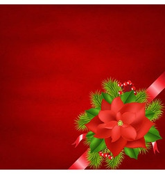 Winter Flower With Red Background vector image