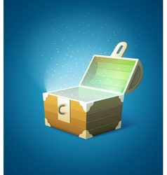Magic fairy-tale wooden trunk vector