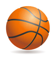 3d basketball isolated ball on white background vector