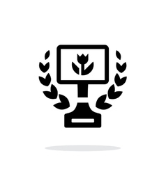 Best macro photo simple icon on white background vector