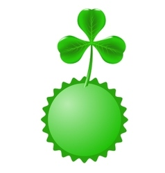 Green clover and circle banner vector