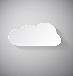 Cloud - paper cut vector