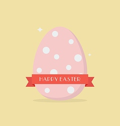 Happy easter with polka dot egg vector