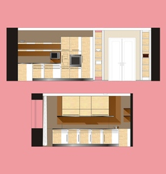Furniture kitchen scan vector