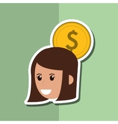 Icon of business people design vector