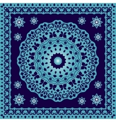 Blue bandana with round ornament vector