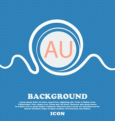 Australia sign icon blue and white abstract vector
