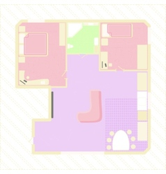 apartment plan vector image