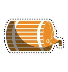 Beer barrel drink icon vector
