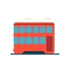 Chinese tramway simplified icon vector