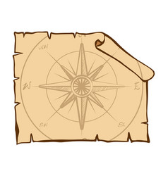 compass on brown paper vector image vector image