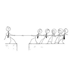 Conceptual cartoon of business man individuality vector