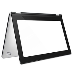 Convertible laptop with blank screen vector