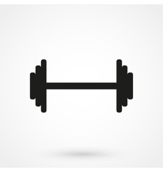 Dumbbels - icon black vector image