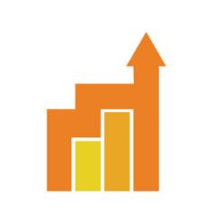 financial castle building vector image