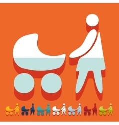 Flat design family vector image