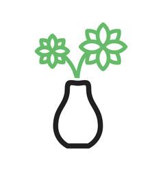 Flowers in vase vector