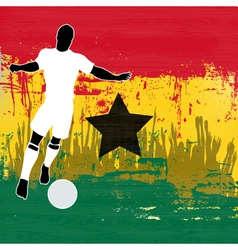Football ghana vector