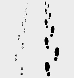 Footprints 3 vector