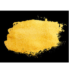 Golden brush stroke for you amazing design vector