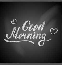 Good morning lettering card vector