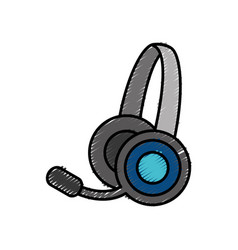 Headset icon image vector