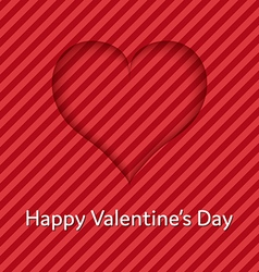 Heart from shadow valentines day card vector