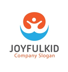 Joyful Kid Design vector image vector image