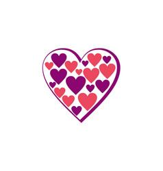 Love heart joy logo vector