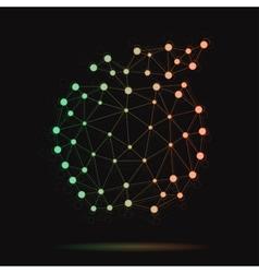 modern atomic apple vector image vector image