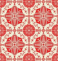 Pattern with floral ornamental vector