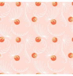 Peaches seamless pattern vector image vector image