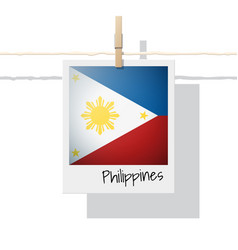 Photo of philippines flag on white background vector