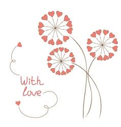 Romantic flowers vector image