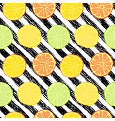 seamless pattern with lemons limes vector image vector image