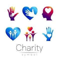 Set Symbol of CharitySign vector image