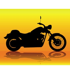 silhouette of an old motorcycle vector image vector image