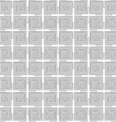 Slim gray square connecting spirals vector image vector image