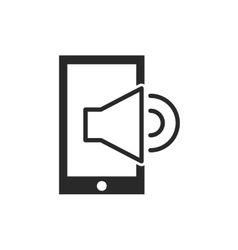 smartphone with button audio menu vector image