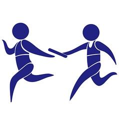 Sport logo for running relay vector