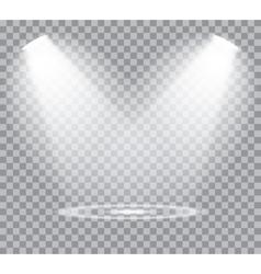 Spotlights scene vector